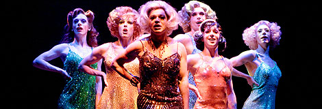 Graham Norton and the Cagelles from La Cages aux Folles