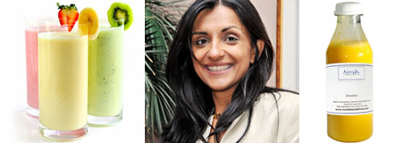 Nosh founder Geeta Sidhu-Robb and her juices