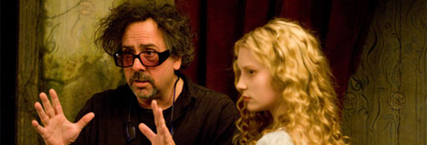 Tim Burton directs 'Alice in Wonderland'
