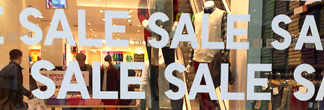 Shop sales window